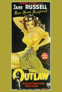 The Outlaw - 14 x 36 Movie Poster - Insert Style B