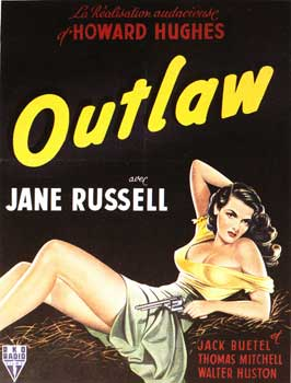 The Outlaw - 27 x 40 Movie Poster - French Style A