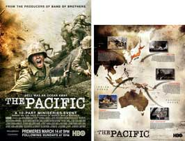The Pacific - 11 x 17 Movie Poster - Style B (includes FREE 11 x 14 Battle Map)