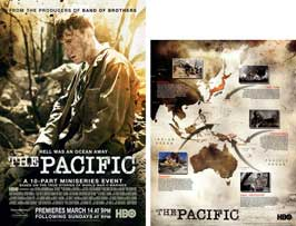 The Pacific - 11 x 17 Movie Poster - Style C (includes FREE 11 x 14 Battle Map)