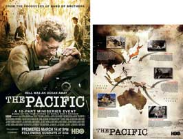 The Pacific - 11 x 17 Movie Poster - Style D (includes FREE 11 x 14 Battle Map)