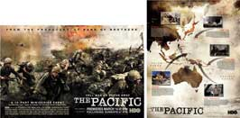 The Pacific - 20 x 30 Movie Poster - Style A (includes FREE 18 x 24 Battle Map)