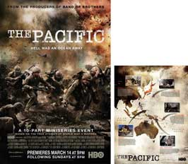 The Pacific - 11 x 17 Movie Poster - Style E (includes FREE 11 x 14 Battle Map)
