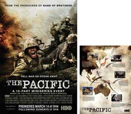 The Pacific - 23 x 34 HBO Poster - Style B (includes FREE 18 x 24 Battle Map)