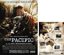 The Pacific - 23 x 34 HBO Poster - Style C (includes FREE 18 x 24 Battle Map)