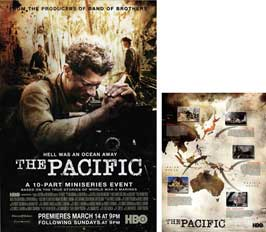 The Pacific - 23 x 34 HBO Poster - Style D (includes FREE 18 x 24 Battle Map)