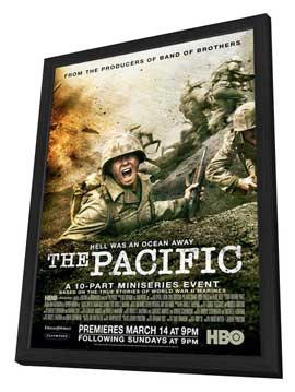 The Pacific - 11 x 17 Movie Poster - Style B - in Deluxe Wood Frame