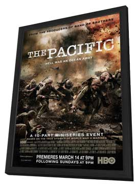 The Pacific - 11 x 17 Movie Poster - Style E - in Deluxe Wood Frame
