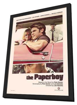 The Paperboy - 27 x 40 Movie Poster - Style A - in Deluxe Wood Frame