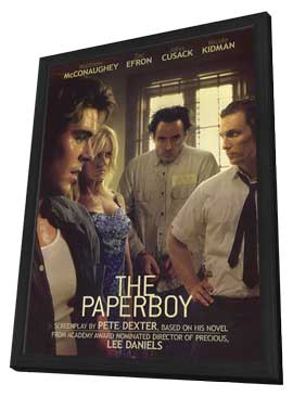 The Paperboy - 27 x 40 Movie Poster - Style B - in Deluxe Wood Frame