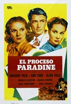 The Paradine Case - 27 x 40 Movie Poster - Spanish Style A