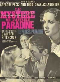 The Paradine Case - 11 x 17 Movie Poster - French Style A
