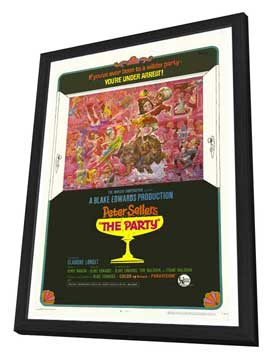 The Party - 27 x 40 Movie Poster - Style B - in Deluxe Wood Frame