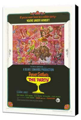 The Party - 27 x 40 Movie Poster - Style B - Museum Wrapped Canvas