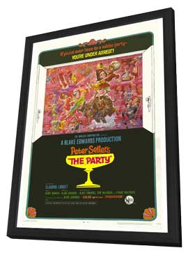 The Party - 11 x 17 Movie Poster - Style B - in Deluxe Wood Frame