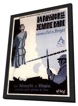The Passion of Joan of Arc - 11 x 17 Movie Poster - French Style C - in Deluxe Wood Frame