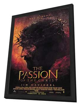 The Passion of the Christ - 11 x 17 Movie Poster - Style A - in Deluxe Wood Frame