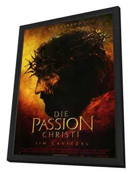 The Passion of the Christ - 11 x 17 Movie Poster - German Style A - in Deluxe Wood Frame