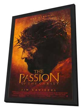 The Passion of the Christ - 27 x 40 Movie Poster - Style A - in Deluxe Wood Frame