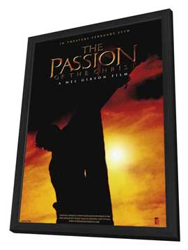 The Passion of the Christ - 27 x 40 Movie Poster - Style D - in Deluxe Wood Frame