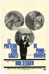 The Pawnbroker - 11 x 17 Movie Poster - Belgian Style A