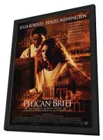 The Pelican Brief - 27 x 40 Movie Poster - Style A - in Deluxe Wood Frame