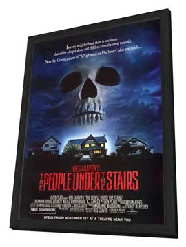The People Under the Stairs - 27 x 40 Movie Poster - Style B - in Deluxe Wood Frame