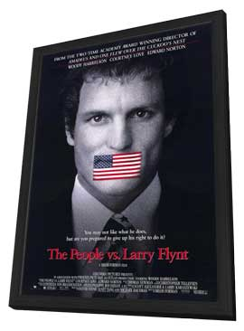 The People vs. Larry Flynt - 11 x 17 Movie Poster - Style A - in Deluxe Wood Frame