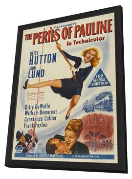 The Perils of Pauline - 11 x 17 Movie Poster - Style A - in Deluxe Wood Frame