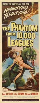 The Phantom From 10,000 Leagues - 14 x 36 Movie Poster - Insert Style A