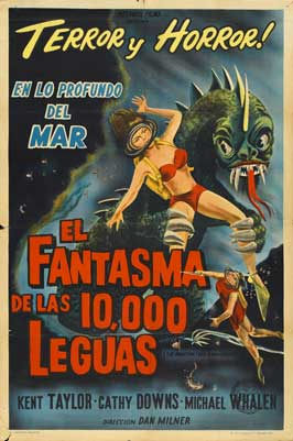 The Phantom From 10,000 Leagues - 27 x 40 Movie Poster - Spanish Style A
