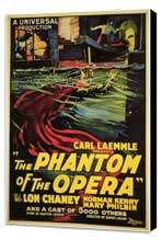 The Phantom of the Opera - 27 x 40 Movie Poster - Style B - Museum Wrapped Canvas