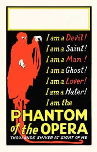 The Phantom of the Opera - 14 x 22 Movie Poster - Window Card