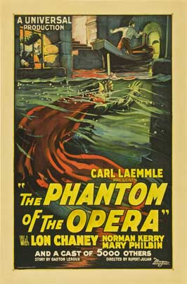 The Phantom of the Opera - 11 x 17 Movie Poster - Style H