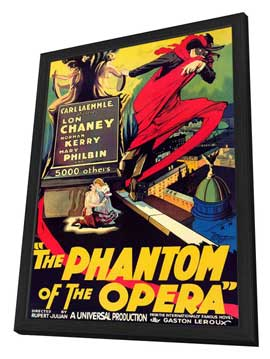 The Phantom of the Opera - 27 x 40 Movie Poster - Style A - in Deluxe Wood Frame
