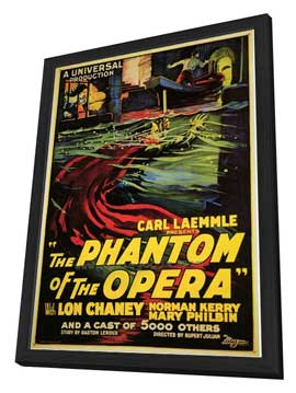 The Phantom of the Opera - 27 x 40 Movie Poster - Style B - in Deluxe Wood Frame