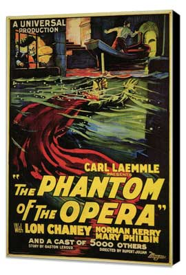 The Phantom of the Opera - 11 x 17 Movie Poster - Style B - Museum Wrapped Canvas