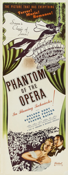 The Phantom of the Opera - 14 x 36 Movie Poster - Insert Style A