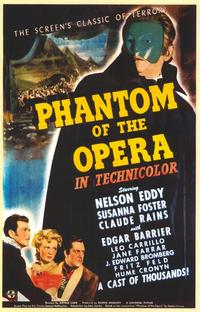 The Phantom of the Opera - 11 x 17 Movie Poster - Style A