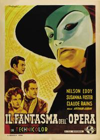 The Phantom of the Opera - 27 x 40 Movie Poster - Italian Style B