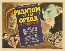 The Phantom of the Opera - 22 x 28 Movie Poster - Half Sheet Style A