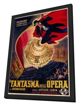 The Phantom of the Opera - 27 x 40 Movie Poster - Foreign - Style A - in Deluxe Wood Frame