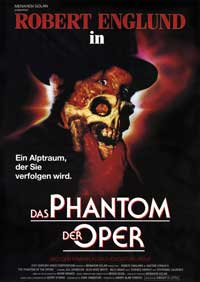 The Phantom of the Opera - 27 x 40 Movie Poster - German Style B