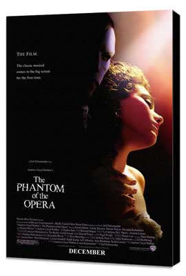 The Phantom of the Opera - 11 x 17 Movie Poster - Style A - Museum Wrapped Canvas