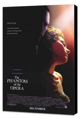 The Phantom of the Opera - 27 x 40 Movie Poster - Style A - Museum Wrapped Canvas