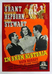 The Philadelphia Story - 11 x 17 Movie Poster - Swedish Style A