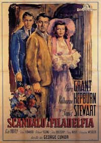 The Philadelphia Story - 11 x 17 Movie Poster - Italian Style A