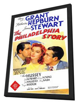 The Philadelphia Story - 11 x 17 Movie Poster - Style A - in Deluxe Wood Frame