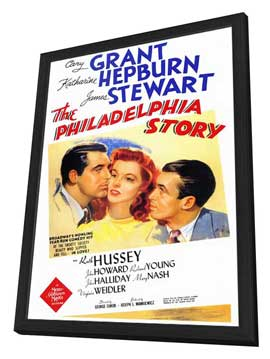 The Philadelphia Story - 27 x 40 Movie Poster - Style A - in Deluxe Wood Frame