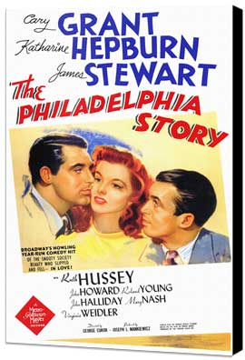 The Philadelphia Story - 11 x 17 Movie Poster - Style A - Museum Wrapped Canvas